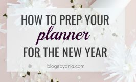 Prepping Your Planner for the New Year