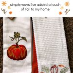 Fall Decor Touches - Simple ways I've added a touch of Fall to my home