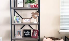 Valentine's Styled Shelf Decor