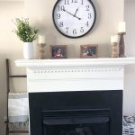neutral family room mantle