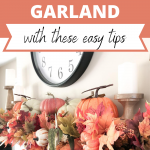 how to create a fall garland