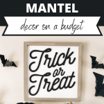 Easy Halloween Mantel decorating on a budget