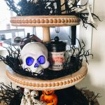halloween styled tiered tray
