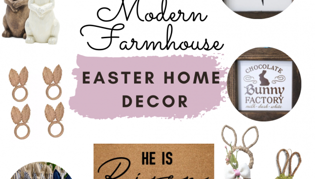 Easter Home Decor Ideas and Tiered Tray