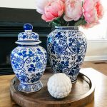 early Spring decorating with pink peonies
