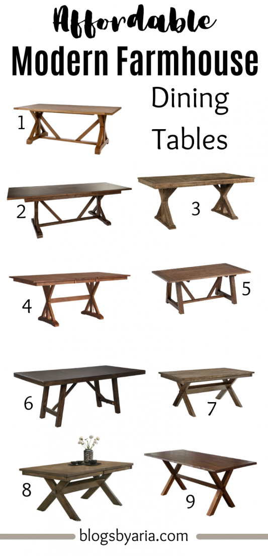 affordable modern farmhouse dining tables