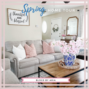 Spring Home Tour : Pops of Pink