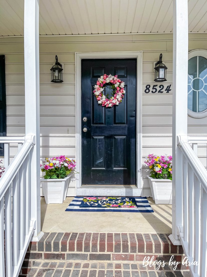 easy affordable spring front porch