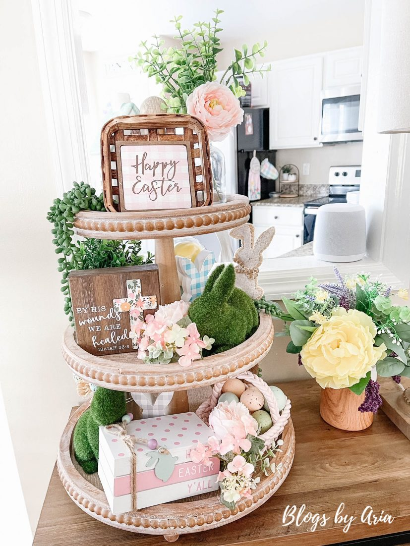 Easter three tiered tray