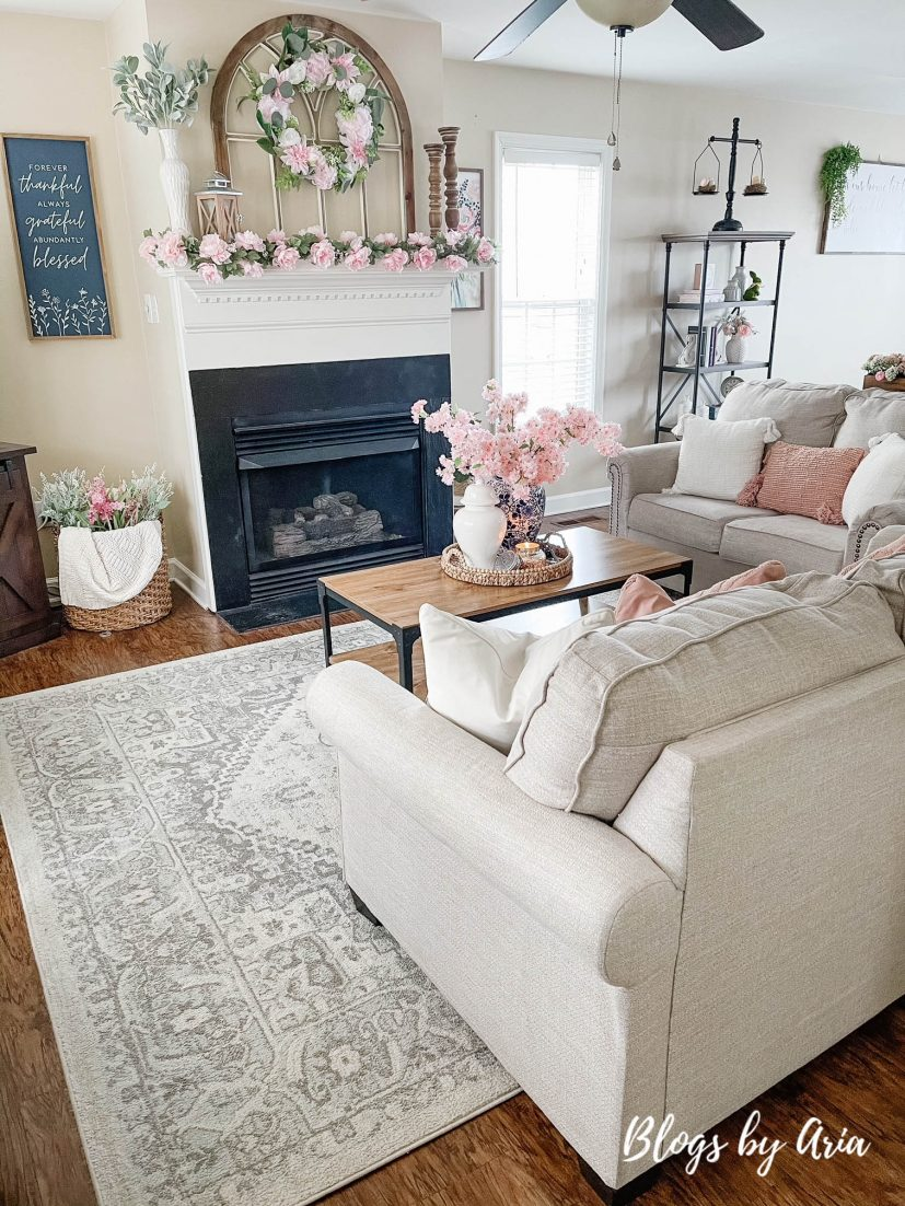 pops of pink spring decorating ideas