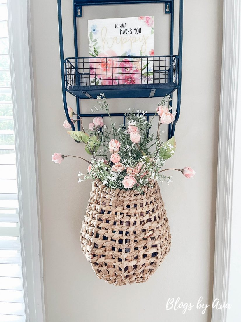 hanging basket filled with flowers