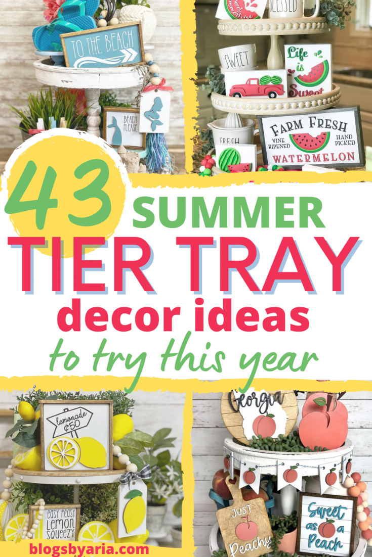 43 summer tier tray decor ideas to try