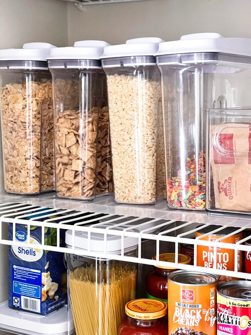 small kitchen pantry organization cereal containers