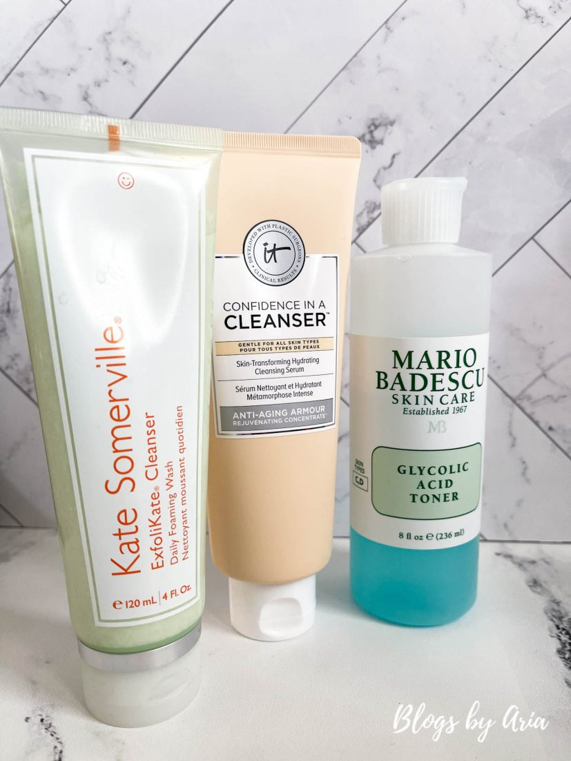 my skincare routine facial wash