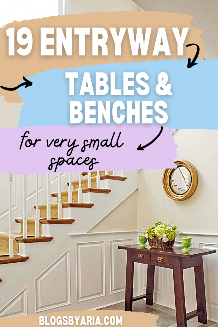 19 entryway tables and benches for very small spaces