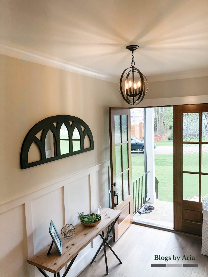 wainscoting trim entryway