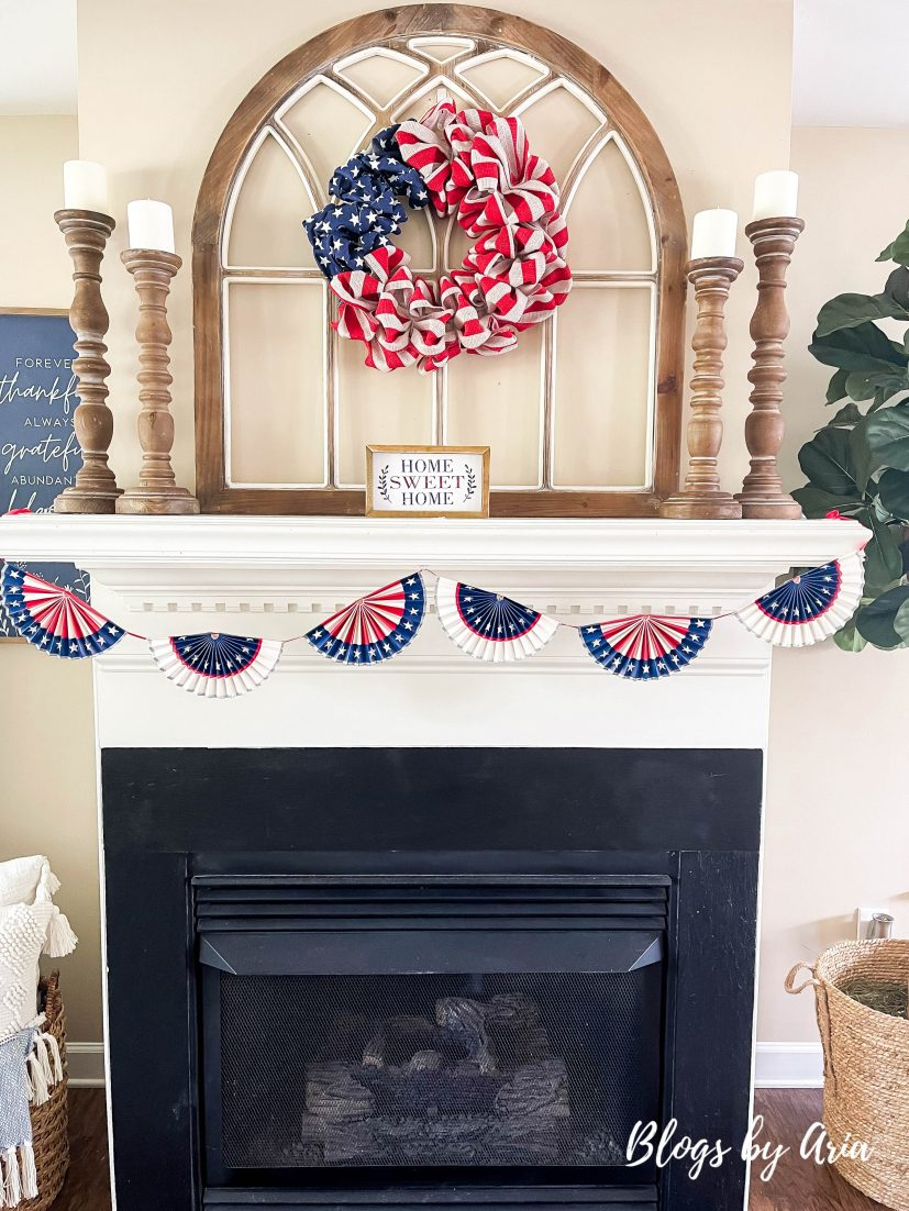 fourth of july mantle decor