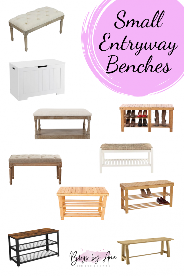 small entryway benches for a tight space