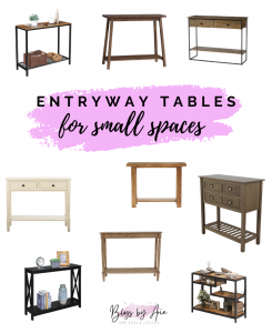 Small Entryway Tables and Benches