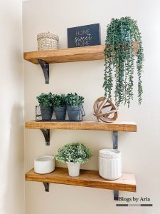 Updated Styled Floating Shelves