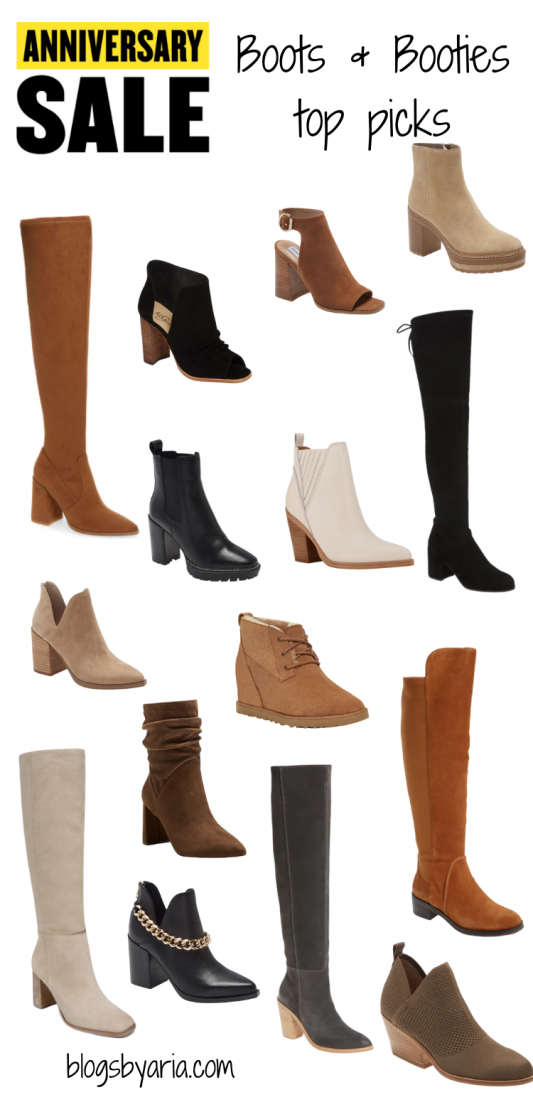 Nordstrom Anniversary Sale Picks boots and booties