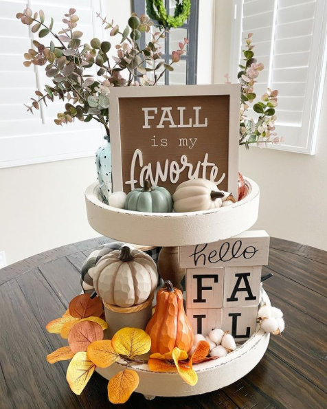 fall is my favorite tiered tray