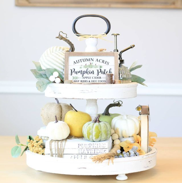 neutral fall tiered tray