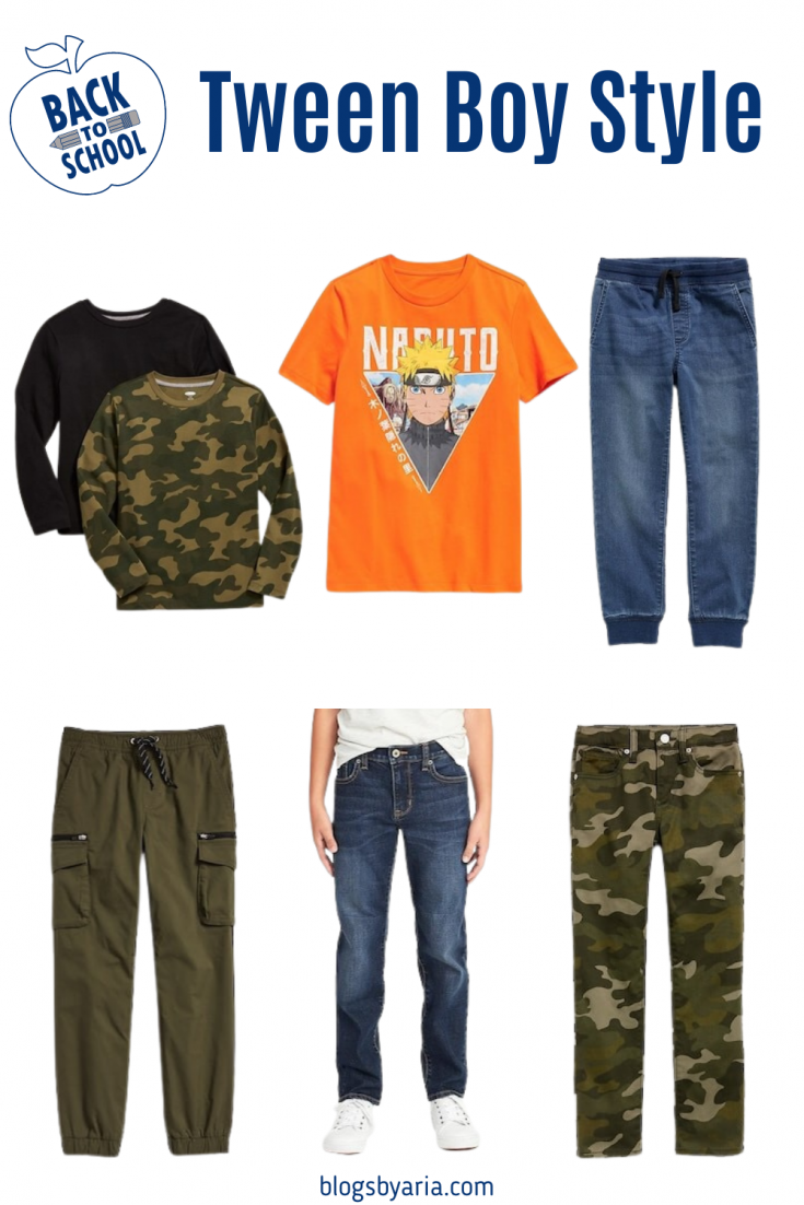 back to school boys clothes and outfit ideas for tween boys