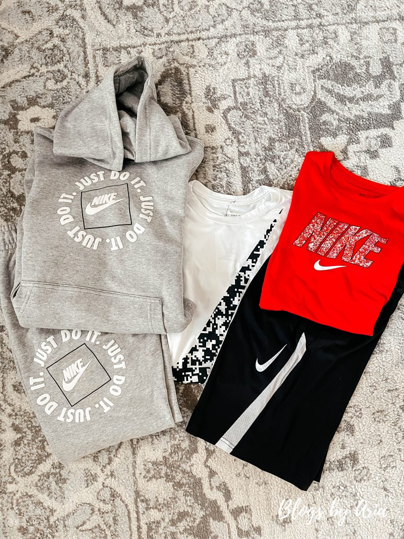 Nike tween boys clothes for back to school