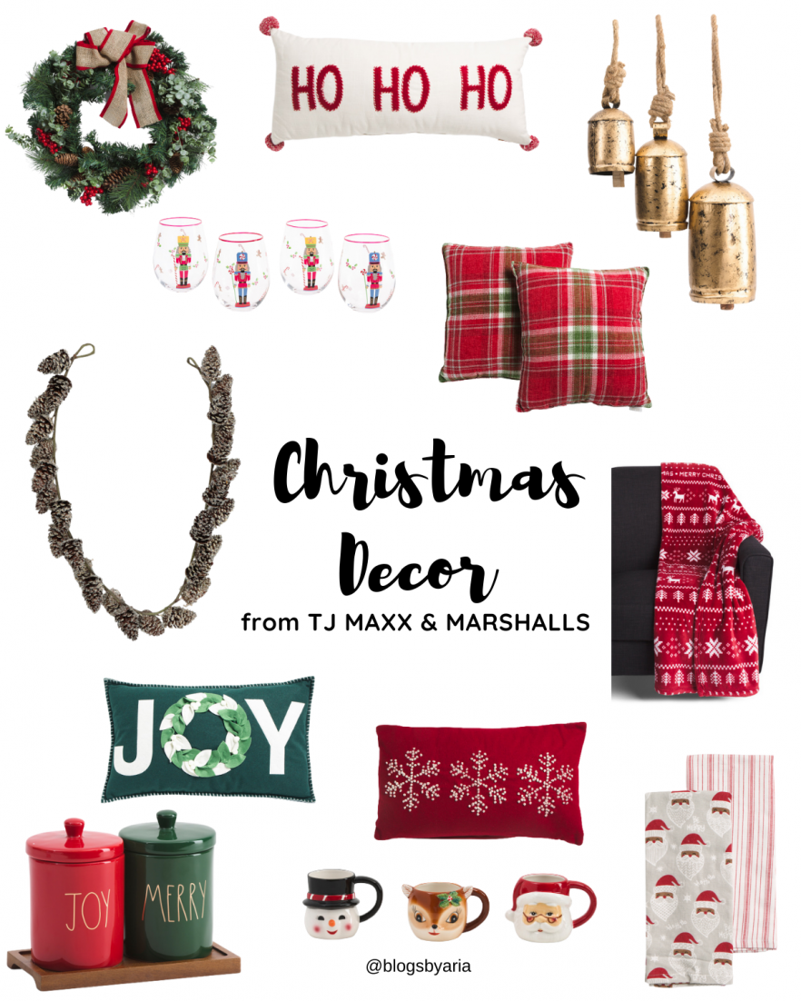Christmas Decor finds from TJ Maxx and Marshalls